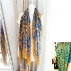 FL 1PC New Fashion Women Lady Green Ethnic National Boho Voile Yarn Long Scarves