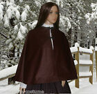 Victorian Edwardian American Civil War  brown velour velvet cape