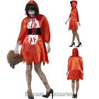 CA17  Zombie Little Miss Riding Hood Costume Horror Bloody Halloween Fancy Dress