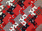 SCOTTY DOGS ~ COTTON FABRIC PATCHWORK SQUARES PIECES CHARM PACK CRAFT 2 4 5 INCH