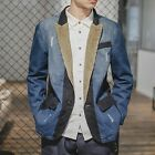New Casual Men's Washed Denim Loose Coat Corduroy Fashion Jean Jackets Outerwear