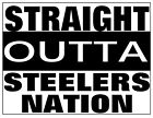 Straight Outta Steeler Nation NFL tshirt baby romper toddler football Pittsburgh