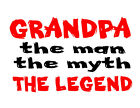 Grandpa the man the myth the legend romper tshirt fathers day gift Pap