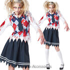 K227 High School Zombie College Student Ladies Halloween Fancy Dress Up Costume