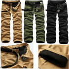 Mens Winter Cotton Fleece Lined Cargo Combat Work Long Pants Trousers Hot Sale