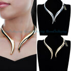 Fashion Jewelry Metal Gold Silver Punk Gothic Choker Statement Bib Necklace New