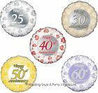 Happy Anniversary Foil Helium Balloon 25th 30th 40th 50th 60th Party Decoration