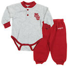 NCAA Infant Mississippi State Bulldogs Creeper and Pants Set, Maroon & Grey