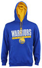 Adidas NBA Men's Golden State Warriors Tipoff Playbook Pullover Hoodie, Blue