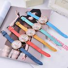 Womens Ladies Eiffel Tower Pattern Rhinestone PU Leather Band Quartz Wrist Watch