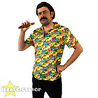 PABLO ESCOBAR COSTUME DRUG LORD FANCY DRESS YELLOW HAWAIIAN SHIRT WIG TASH CIGAR
