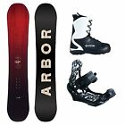 New Arbor Foundation System Bindings and Boots Men's Complete Snowboard Package