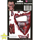 CYBORG TEMPORARY FACE TATTOOS HALLOWEEN FANCY DRESS ADULTS SPECIAL FX MAKE UP