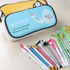 New Student's Sweet Canvas Pen Bag Pencil Case Cosmetic Bags Travel Makeup Bags