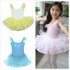 Girls Dance Bead Cotton Costumes Skate Bow Knot Sleeveless