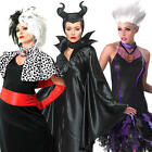 Disney Villains Ladies Fancy Dress Fairytale Book Day Womens Adults Costumes New