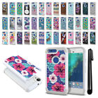 For Apple Iphone 6 Plus/ 6s Plus 5.5 inch Studded Bling HYBRID Case Cover + Pen