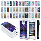 For Alcatel OneTouch POP Astro 5042N 5042T Studded Bling HYBRID Case Cover + Pen