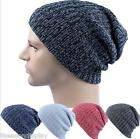 FL Knitted Men's Women's Baggy Beanie Oversize Winter Warm Crochet Chic Cap
