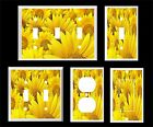 SUNNY SUNFLOWERS #2 BRIGHT  LIGHT SWITCH COVER PLATE