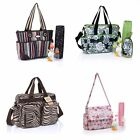 US Mommy Bag Baby Diaper Bag Combination Large Multifunction HandBag 4 Types