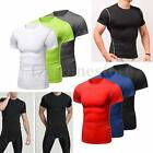 Men Compression Base Layer Thermal Shirt Top Sports Gym Running Tight T-Shirt