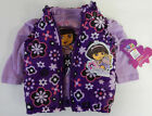 Nickelodeon 12 Months Purple Dora Tee and Puffer Vest Set Baby Girl Clothes