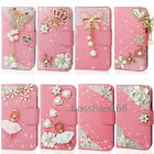 Magnetic Bling Crystal Diamond PU leather flip wallet  case cover for ZTE