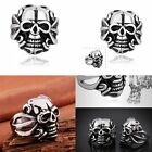 Stainless Steel New Fashion Men's Punk Rock Skull Biker Ring Mysterious Jewelry