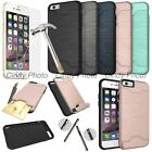 "For iPhone 6 Plus 5.5"" Glass Film Card Armor Brushed Cover Case"