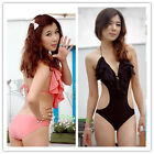 Summer One Piece Padded V-neck Backless Monokini Swimwear Swimsuit Beachsuit Hot