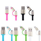 2 in 1 micro USB Connector Charger Adapter Cable For iPhone Android 5 Colors