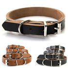 Genuine Cow Leather Adjustable Dog Pet Cat Puppy Collar Neck Buckle Neck Strap