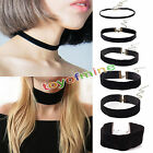 New Black Velvet Charm Pendant Choker Necklace Gothic Handmade Retro Jewelry