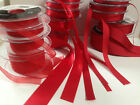 Berisfords D/F Satin, Sheer & Grosgrain Ribbon - RED 15 & 9325 - 3 to 50mm