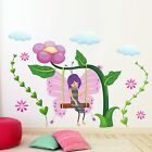 WALL TATTOO Fairy land Elf Flower Swing Clouds fairy Wall sticker Flick