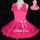 Girl Rosette Pettidress Petti Dress Tutu Pettiskirt Party Pageant Size 2T-10 105