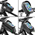 RockBros Bicycle Frame Bag PU Pannier Front Tube Bag with Phone Holder Bag