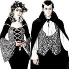 Royal Vampires Adults Fancy Dress Spooky Dracula Womens Mens Halloween Costumes