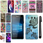 "For Microsoft Nokia Lumia 950 5.2"" Design TPU SILICONE Rubber Case Cover + Pen"