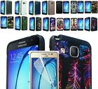 Film LCD+2Layer Slip-free Rubber Shock Case Cover For Samsung Galaxy On5 SM-G550