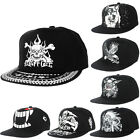 Print Bboy Black Hip-Hop Hat Fashion Cool Unisex Snapback Cap Men/Women AB