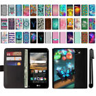 For LG K3 LS450 Design Magnetic Flip Wallet Leather POUCH Case Phone Cover + Pen