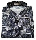 Mens Mandarin Paisley Pattern Thai-Silk-Shirts Small-XXXL / SHORT & LONG / no.3