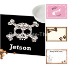 Personalised Pet Placemats Dog & Cat Feed Food Mats for Feeding Bowls Water