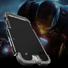 New Luxury Stainless Steel Iron Man Flip Metal Case Cover for iPhone 7 7 Plus