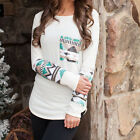 Fashion Womens Ladies Casual Loose Tops Long Sleeve T-Shirt Summer Blouse New