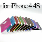 Metal Hard Air Jacket Case Back Hole Cover Glass SP For iPhone4 iPhone 4G 4S 4th