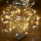 Auraglow 10m Remote Control Plug In 100 Micro LED String Lights
