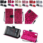 Rose PU Wallet Case Cover w/Strap & CC Slot For HTC Desire 530 4G LTE Phone